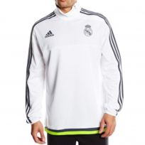 089e55d0519b1 Adidas - REAL TRG TOP M BLC - Sweat Real Madrid Football Homme