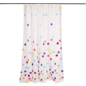 alin a confetti bain rideau de douche pois pas cher achat vente rideaux douche. Black Bedroom Furniture Sets. Home Design Ideas