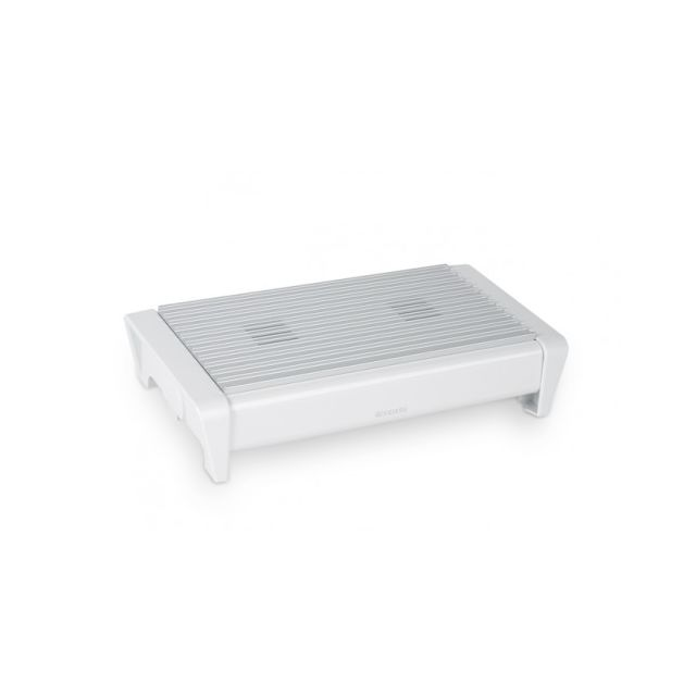 Brabantia Chauffe-plat, 2 bougies - White with Grey Grille