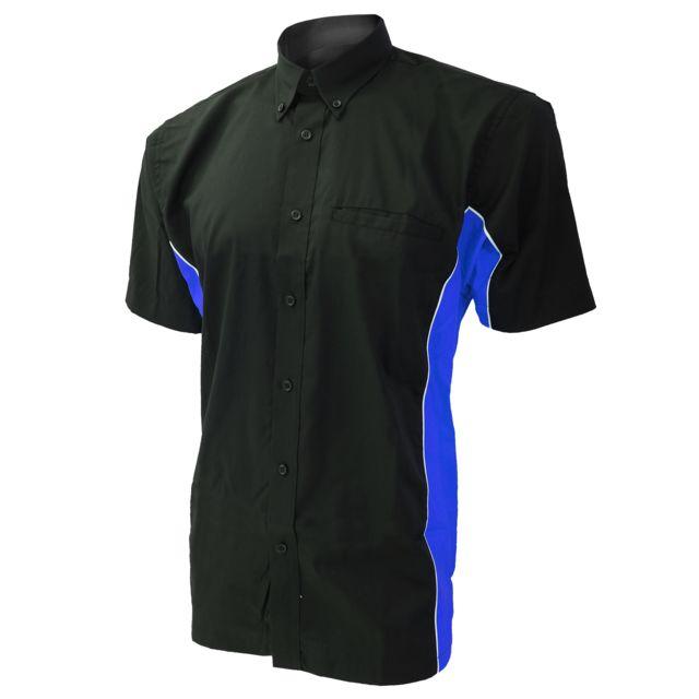 GAMEGEAR Polo à manches courtes ® Sportsman pour homme M, Noir/Bleu roi/Blanc Utbc410