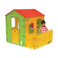 Habitat et Jardin - Cabane enfant en Pvc Fermette - 1.18 x 1.46 x 1.27 m