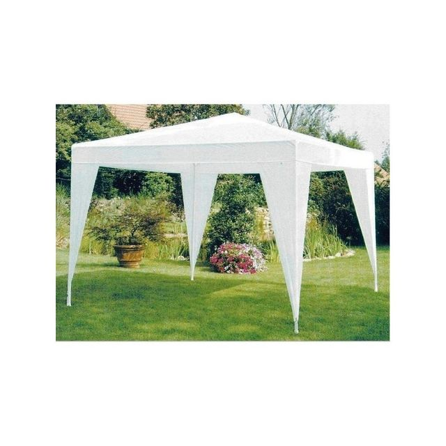 Cross Tonnelle tente de jardin en polyéthylène 3 X 3 m. Blanche