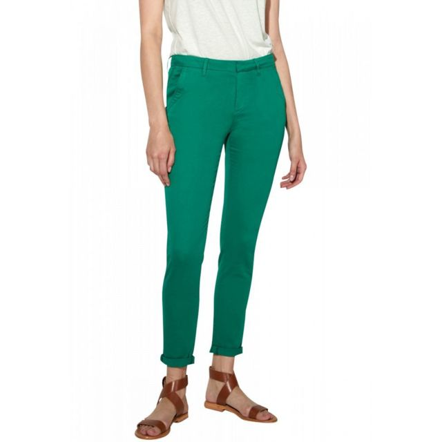 REIKO Pantalon Chino Uni Sandy 2 Basic