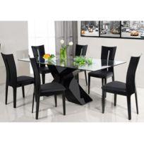 Habitat et Jardin - Table repas Mona - 150 x 90 x 75 cm - Noir