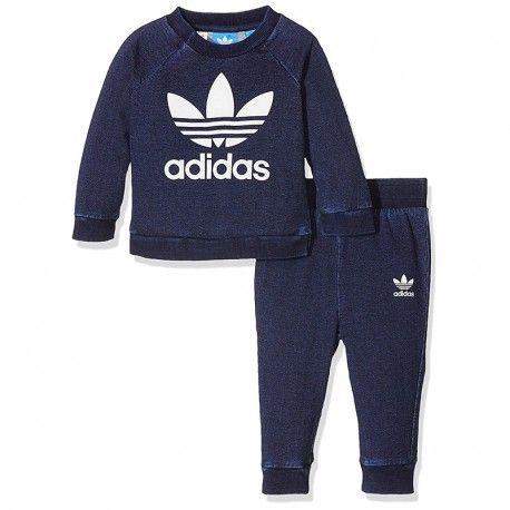 51e88acc2da69 Adidas originals - Denim Crew Bébé Garçon Survêtement Bleu - pas ...