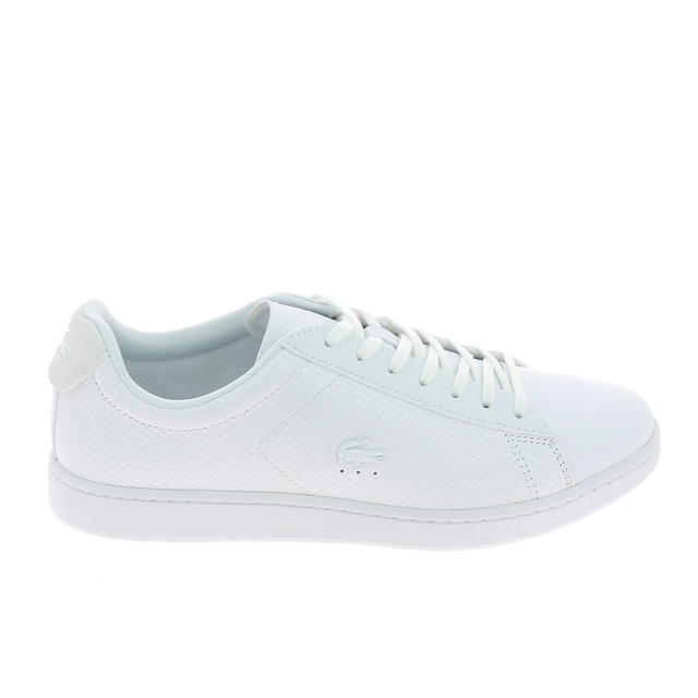 0d8365455 Lacoste - Carnaby Evo Blanc - pas cher Achat / Vente Baskets homme ...