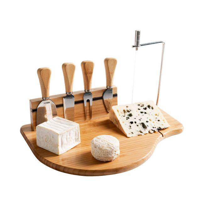 Kitchen Artist Plateau à fromage lyre et ustensiles