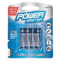 Pmaster - Lot de 4 piles alcalines Super Lr03 type Aaa - Lot de 4