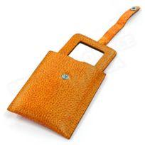 Volumica - Miroir de poche cuir Orange Beaubourg