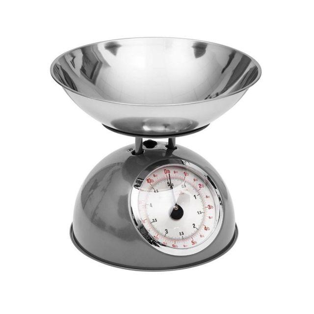 Secret De Gourmet Balance de cuisine rétro grise 5kg