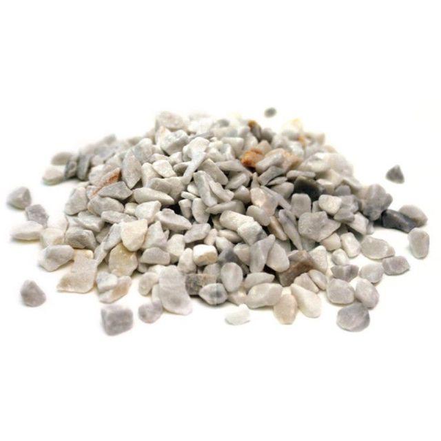 SECRET VERT Graviers marbre concassé blanc carrare 10kg
