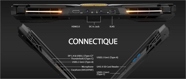 Aorus 17 - Connectique