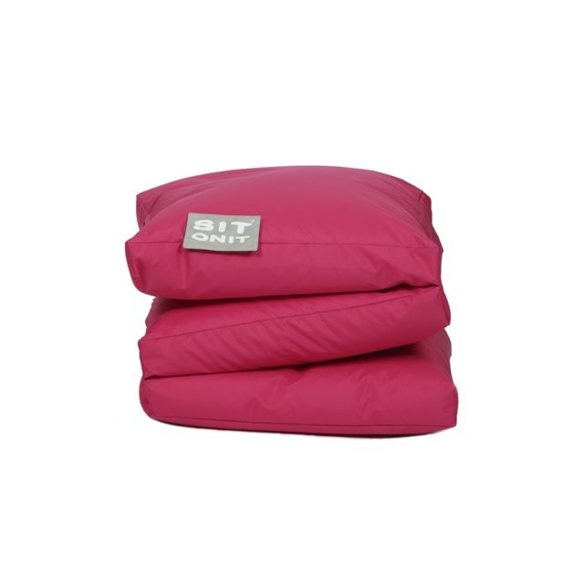 marque generique sit on it poufs pouf double fun fuchsia rose pas cher achat vente poufs. Black Bedroom Furniture Sets. Home Design Ideas