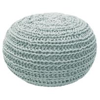 Overseas - Pouf tricoté 30 x 50 cm Givre