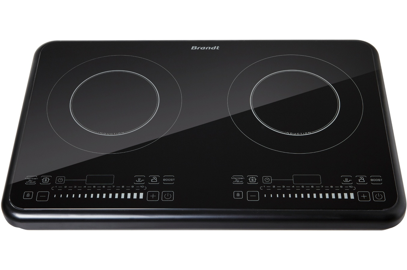 Brandt table de cuisson induction ti2fsoft 2 foyers - Table induction 2 foyers ...