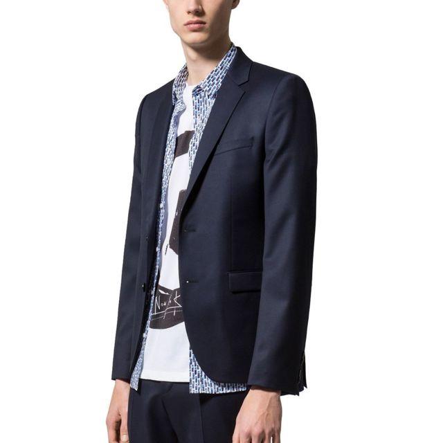 Hugo Boss - Veste De Costume Aldons - pas cher Achat   Vente Blouson homme  - RueDuCommerce b60d6d3b389d