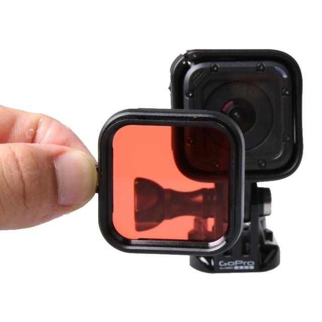 wewoo filtre rouge pour la session de gopro hero4 de plongeon d 39 accessoire de plong e de. Black Bedroom Furniture Sets. Home Design Ideas
