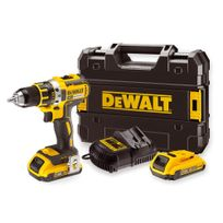 Dewalt - Perceuse Visseuse compacte 18V XR 2Ah Li-Ion Brushless - 2 batteries, chargeur, en coffret - DCD790D2