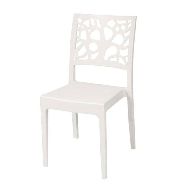 Chaise Areta de Vente Jardin Teti pas Achat Blanc cher dxshQrtC