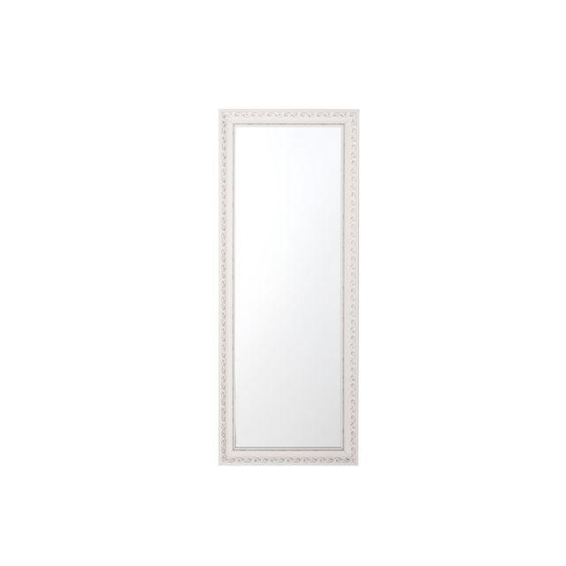 BELIANI Miroir blanc et argenté 50 x 130 cm MAULEON - blanc