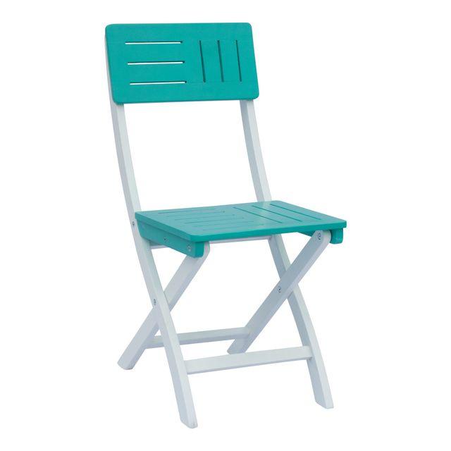chaise de jardin pliable verte