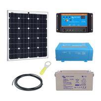 Myshop-solaire - Kit solaire 80w autonome mono + convertisseur 230v/250va