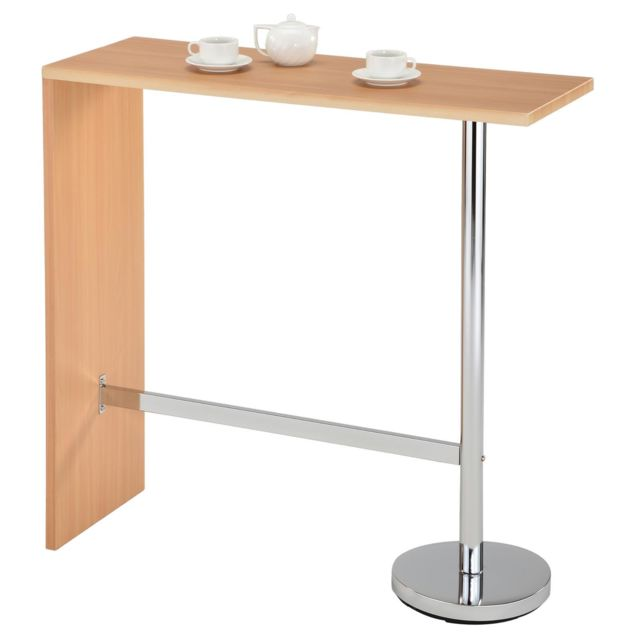 Idimex Table Haute De Bar Ricardo Mange Debout Comptoir