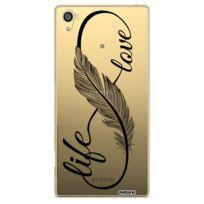 Evetane - Coque rigide transparent Love Life pour Sony Xperia Z5 Premium