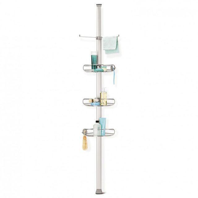 Simplehuman Etagère de douche d'angle à tension en métal chromé et L33xP23xH274cm 50x70cm