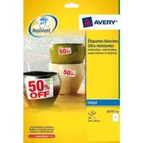 Avery - Etiquettes ultra résistantes 210 x 297 mm J4775-10 - Pochette de 10