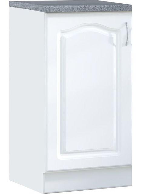 Comforium Meuble bas de cuisine style contemporain 60 cm avec 1 porte coloris blanc