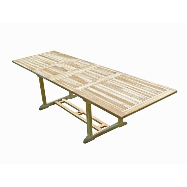 C&L JARDIN Table BATAN teck brut 10/12