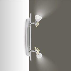 luminaire plafonnier reglette chrome et laiton 2 spots orientables 2 x 50 w gu 53 5 Bon Marché Luminaire Reglette Zzt4
