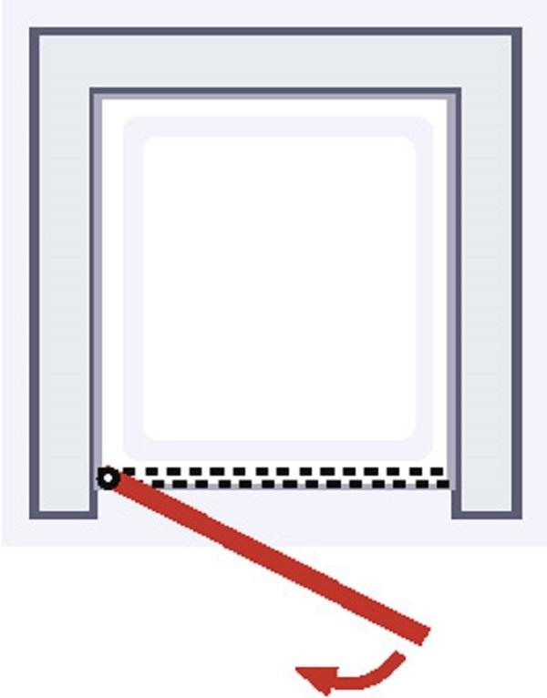 Porte de douche pivotante Style, 100 x 190 cm