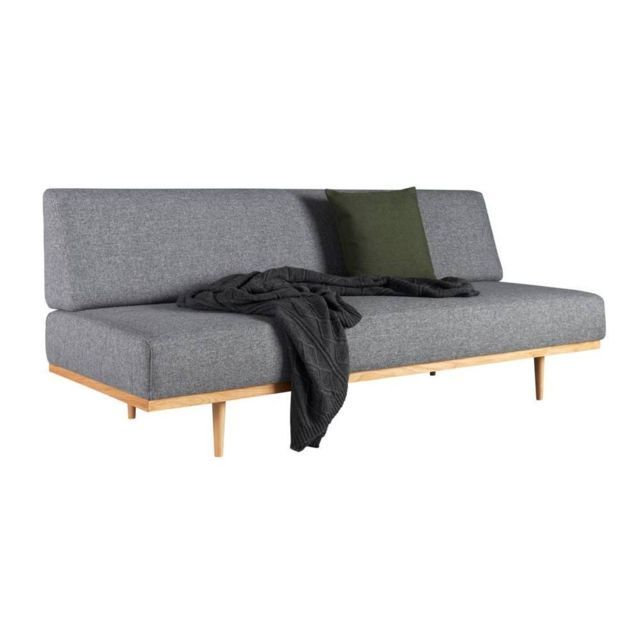 Inside 75 Canapé design scandinave Vanadis gris Twist_Charcoal convertible lit 90 200 cm