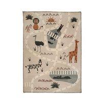 Nattiot - Tapis Little Savannah rectangle pour Chambre bébé par - Couleur - Sable, Taille - 100 x 140 cm