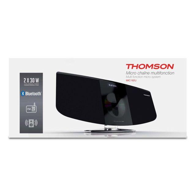 Thomson Micro chaine noire radio numérique Cd Mp3 bluetooth