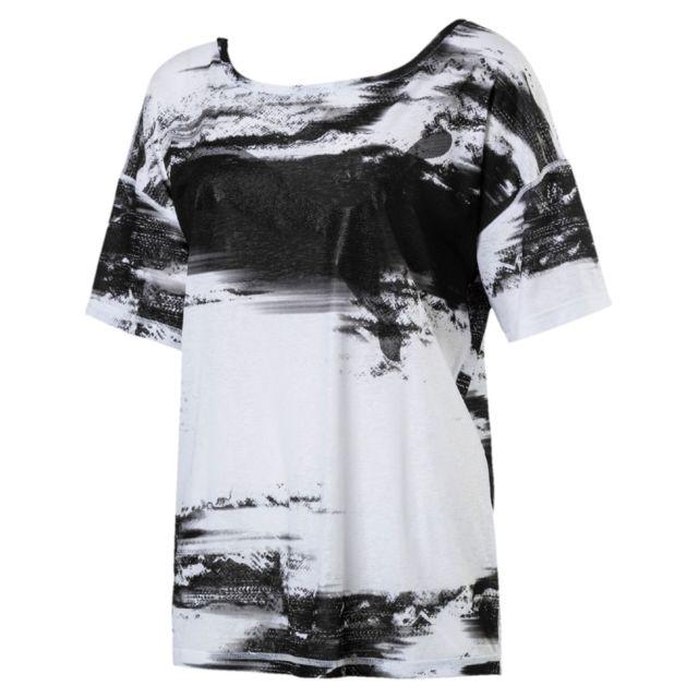 Puma - T-shirt At Dancer Femme - pas cher Achat   Vente Polo femme -  RueDuCommerce 22f80425602