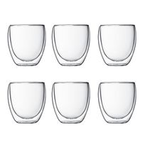 BODUM - set de 6 verres double paroi 25cl - pavina set