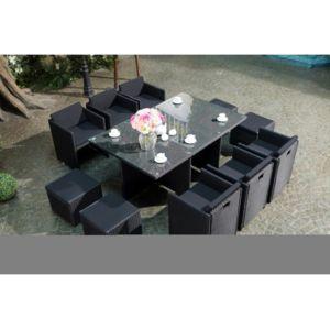 Rocambolesk - Magnifique Salon de jardin Florida 10 Noir/Noir ...