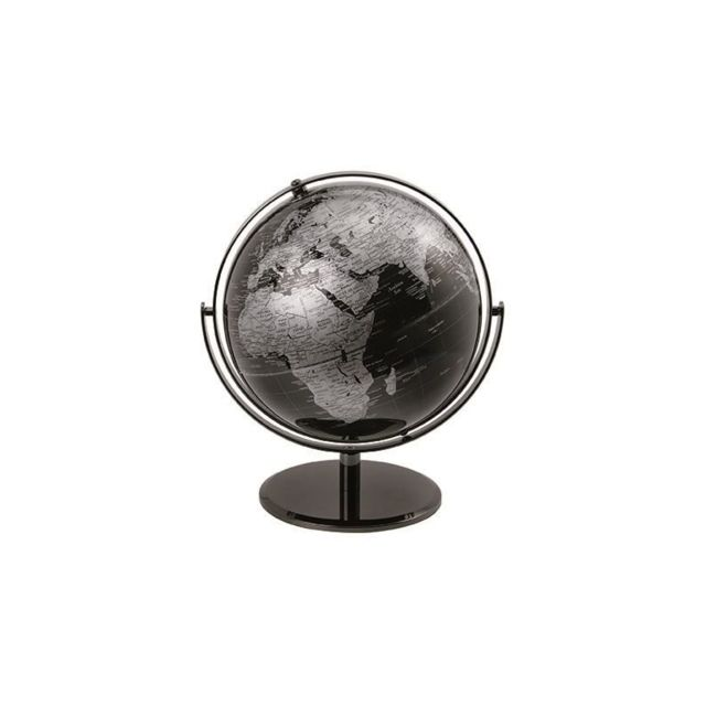 Globe politique multidirectionnels - D 25 cm - Noir