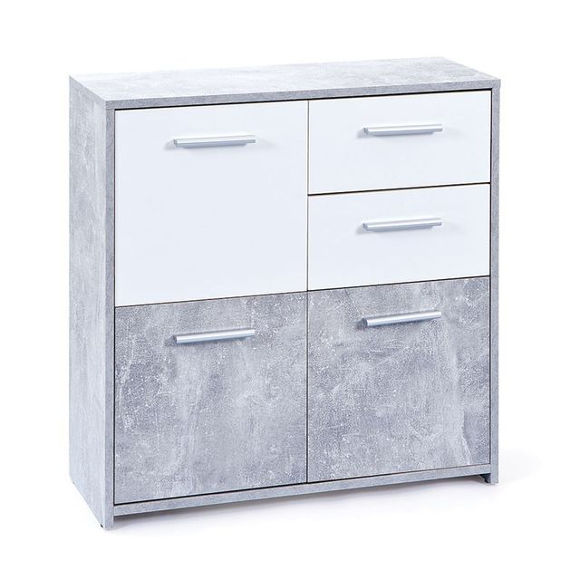 Paris Prix Commode 3 Portes Miller Gris