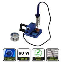 Silex - Station fer à souder électrique 60W + 1 bobine de fil d'étain