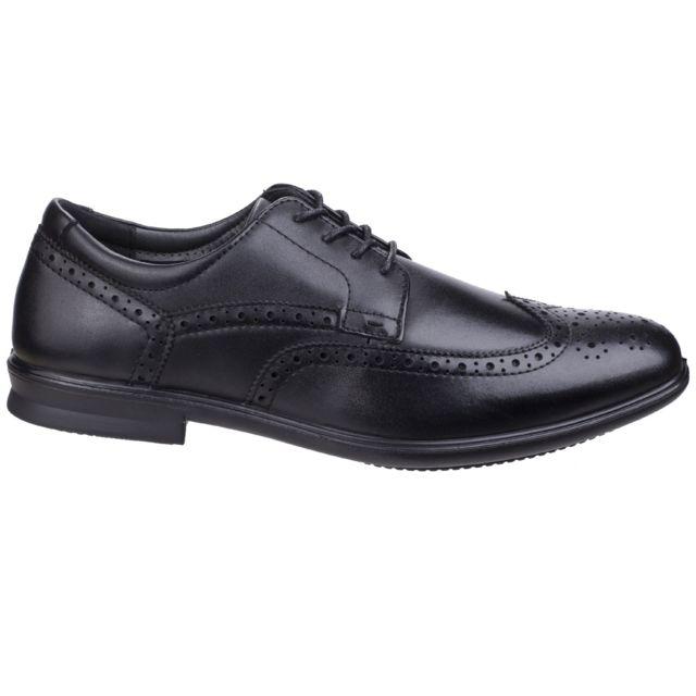 Hush Puppies Chaussures de ville à lacets Cale - Homme 45 Eur, Noir Utfs5463