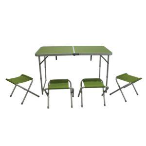 soldes carrefour table de pique nique l 120 x l 60 x h 70 cm aluminium pas cher achat. Black Bedroom Furniture Sets. Home Design Ideas