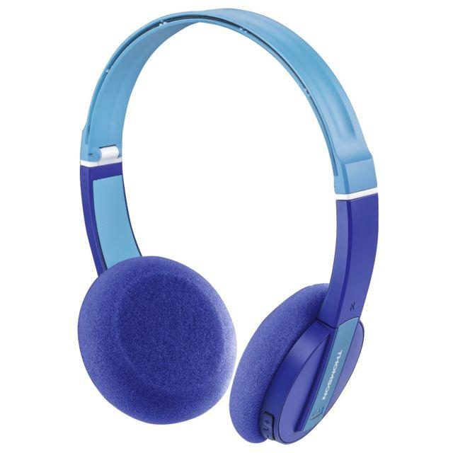 hama thomson casque micro bluetooth whp 6017 b pour enfants bleu pas cher achat vente. Black Bedroom Furniture Sets. Home Design Ideas