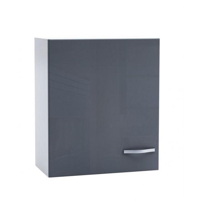 demeyere meuble haut cuisine epice 1 porte 60 cm gris 30cm x 60cm x 70cm pas cher achat. Black Bedroom Furniture Sets. Home Design Ideas