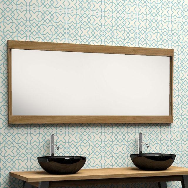 bois dessus bois dessous miroir en bois de teck 150 pas cher achat vente miroir de salle. Black Bedroom Furniture Sets. Home Design Ideas