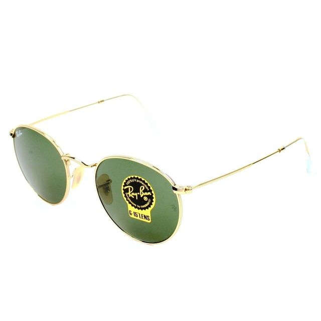 Ray-Ban - Ray Ban - Round Metal Rb3447 001 Or - Lunettes de soleil - pas  cher Achat   Vente Lunettes Tendance 955ff6f920ef