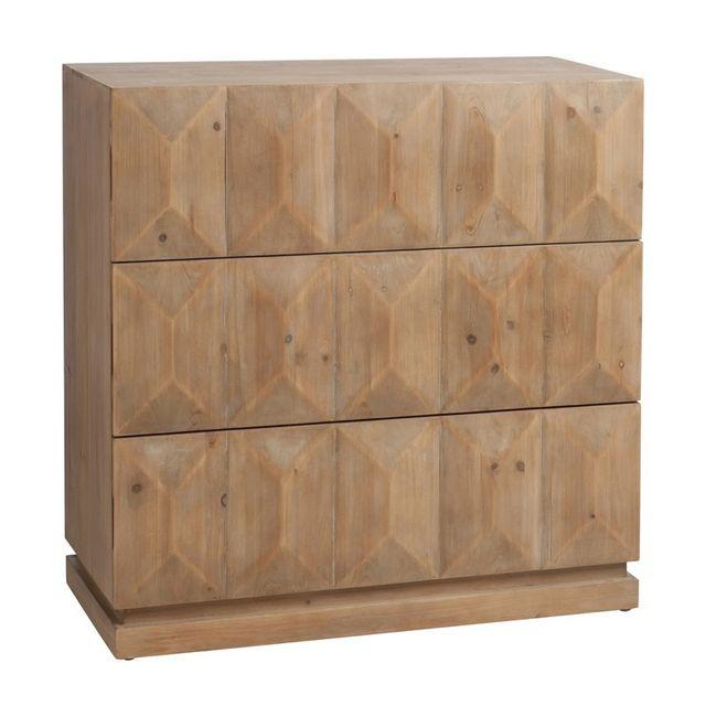 Tousmesmeubles Commode 3 tiroirs - Prisma - L 95 x l 42 x H 95